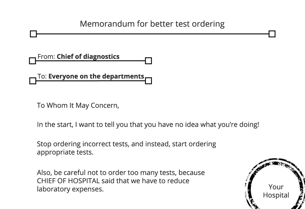 example of a hospital memorandum